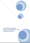 City of Melton, Digital Strategy Background report